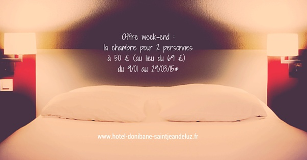 Promo : offre week-end à Saint-Jean-de-Luz !
